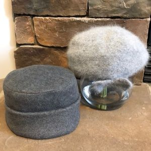 2 ladies hats combo in gray